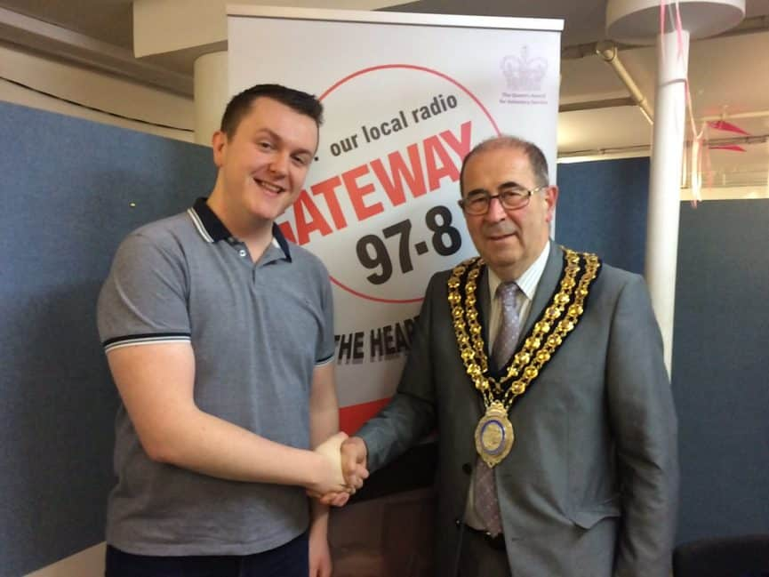 Tyler Pittaway meets David Harrison, the Mayor of Basildon